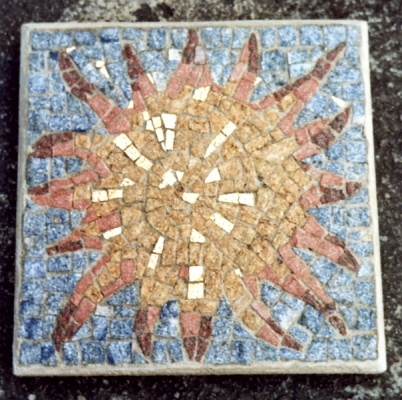 Mosaik Gartenplatte, 50 x 50 cm
